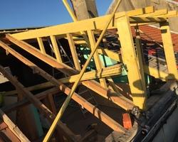 Manier construction - Oye-Plage - La pose de charpente