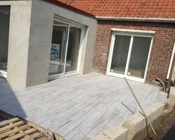 Manier construction - Oye-Plage - La pose de carrelage
